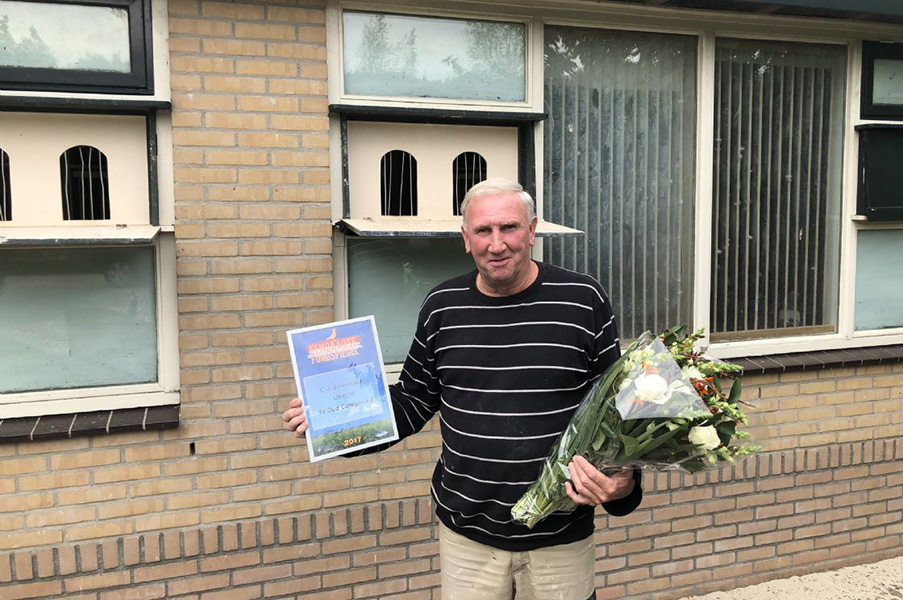 Winnaar categorie 2 van de Fondspiegel Oud 2017, de heer Steinmann uit Utrecht